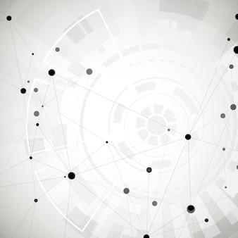 Abstrait de réseau social polygonal