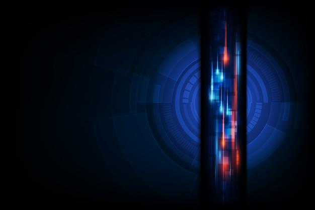 Abstrait de réseautage innovant de technologie de données volumineuses