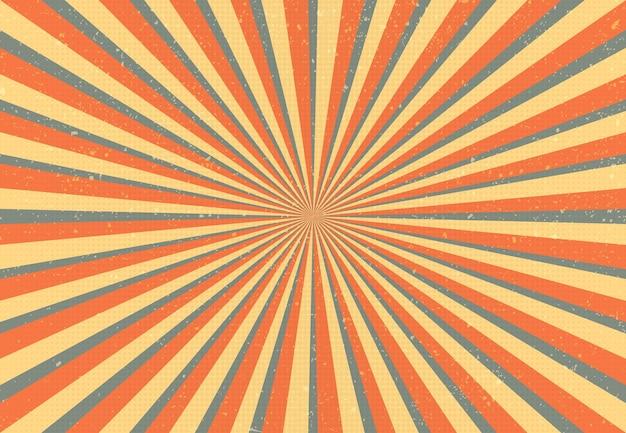 Abstrait rétro sunburst