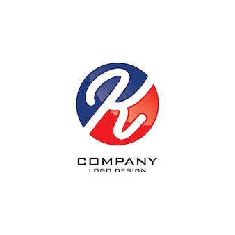 Abstrait rond k lettre logo design vector