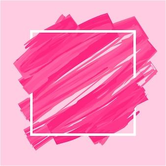 Abstrait rose brosse peinte à l'aquarelle