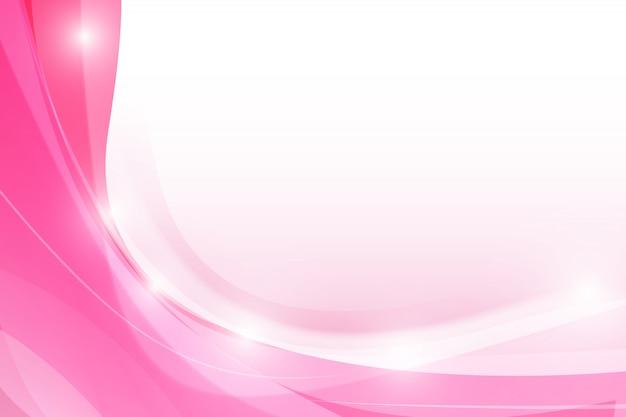 Abstrait rose avec élément d'éclairage tout simplement courbe