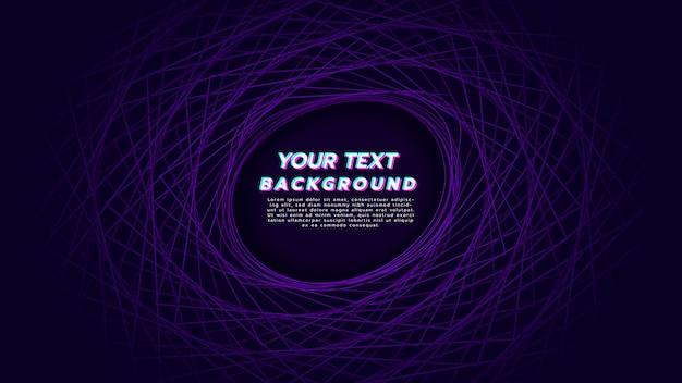 Abstrait avec rotation linéaire pour être cercle de couleur violette.
