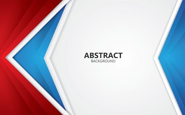 Abstrait rouge et bleu layout design