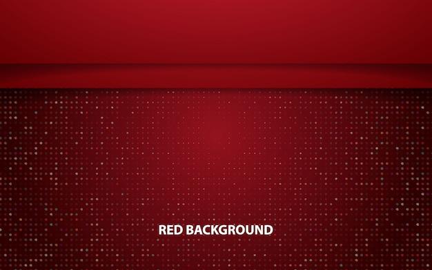 Abstrait rouge chevauchement fond de vecteur de couche horizontale