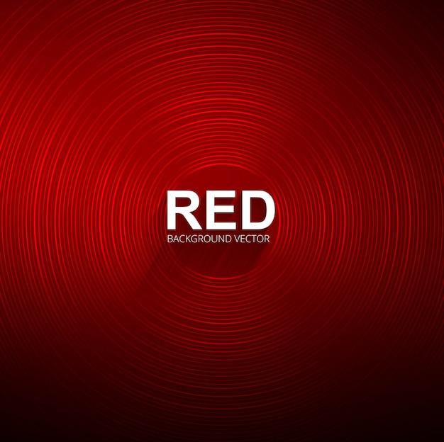 Abstrait rouge circulaire brillant