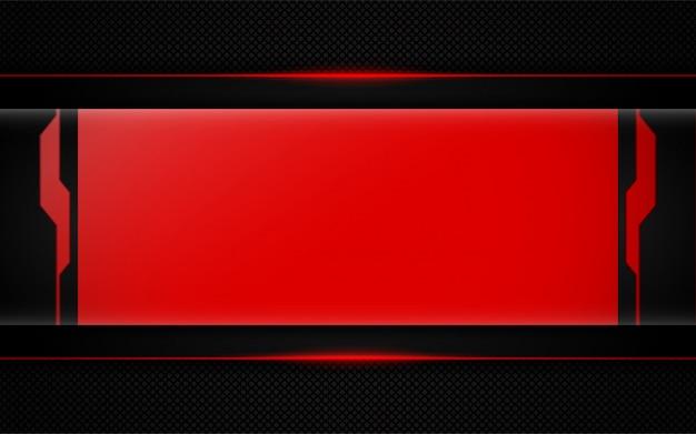 Abstrait rouge sur fond sombre