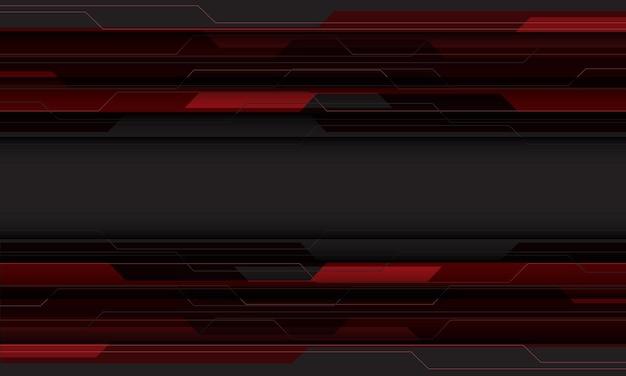Abstrait rouge gris cyber circuit technologie géométrique fond futuriste illustration vectorielle.