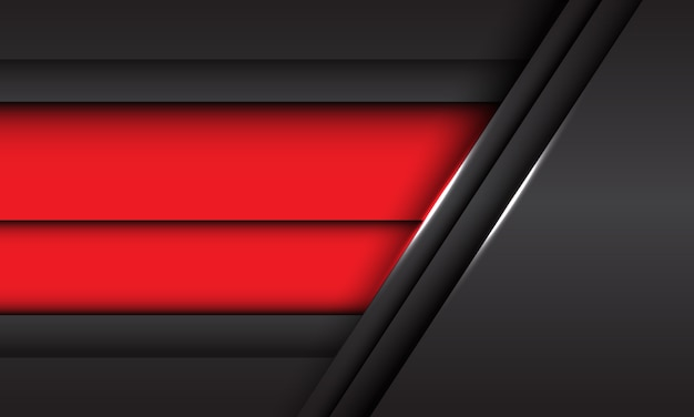 Abstrait rouge gris métallique chevauchement design fond futuriste moderne texture de fond.