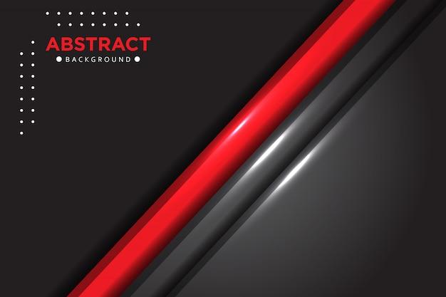 Abstrait rouge gris métallisé brillant fond de chevauchement