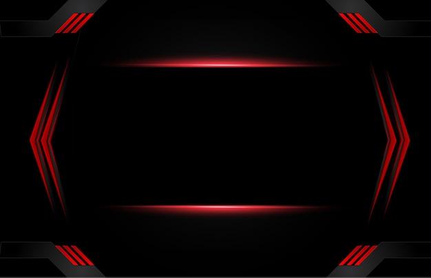 Abstrait rouge métallique noir avec des bandes de contraste. conception de brochure graphique abstract vector