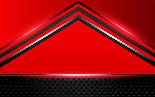 Abstrait rouge métallique noir