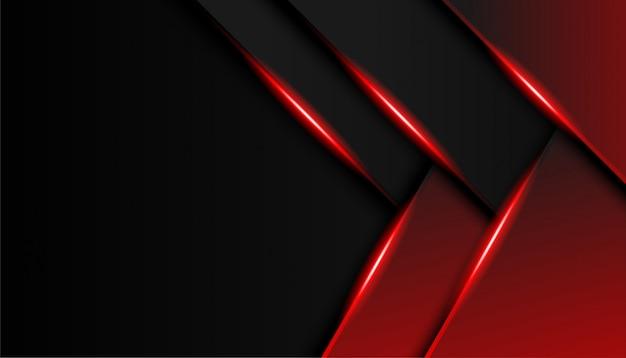 Abstrait en rouge et noir