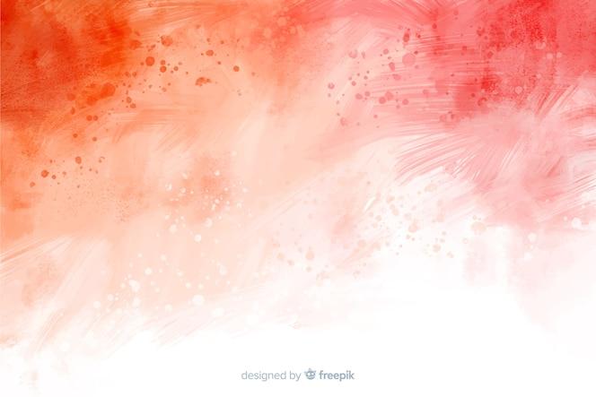 Abstrait rouge peint à la main