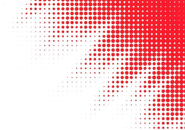 Abstrait rouge en pointillé