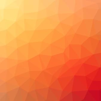 Abstrait rouge polygonale orange