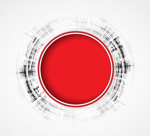 Abstrait rouge rond business technologie fondu dynamique