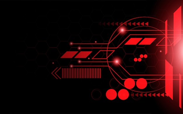 Abstrait rouge technologie ligne