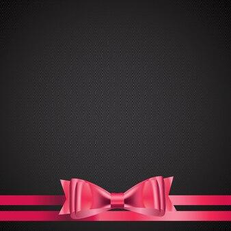 Abstrait avec ruban cadeau rouge. illustration vectorielle. eps10