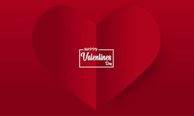 Abstrait de la saint-valentin avec coeur en papier découpé.