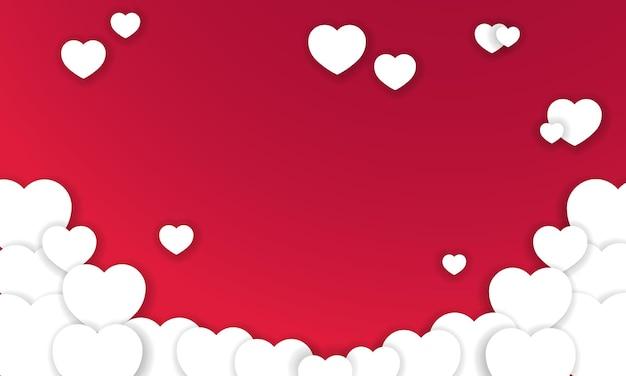 Abstrait de la saint-valentin avec des coeurs. vecteur. eps 10.