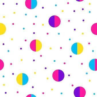 Abstrait sans soudure. modèle d'échantillon futuriste moderne pour carte d'anniversaire, invitation à une fête, papier peint, papier d'emballage de vacances, affiche de vente de magasin, tissu, impression de sac, t-shirt, publicité d'atelier