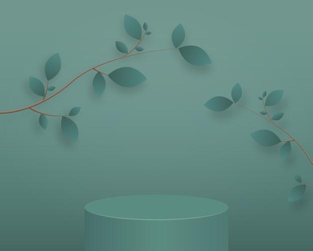 Abstrait de scène minimale avec des formes géométriques