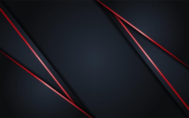 Abstrait sombre avec élément de lignes rouges simples
