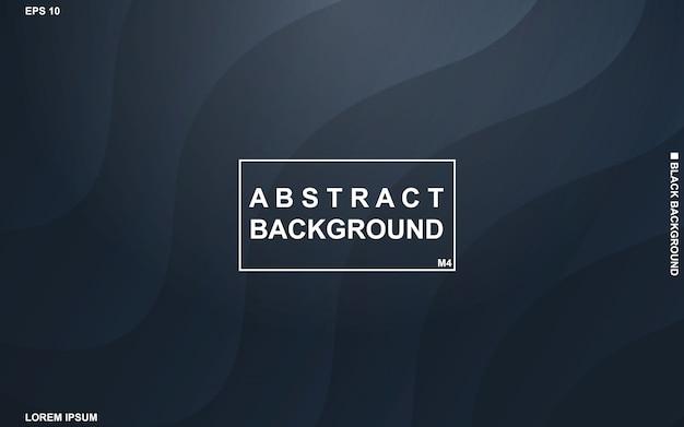 Abstrait sombre avec motif géométrique noir et bleu minimal moderne