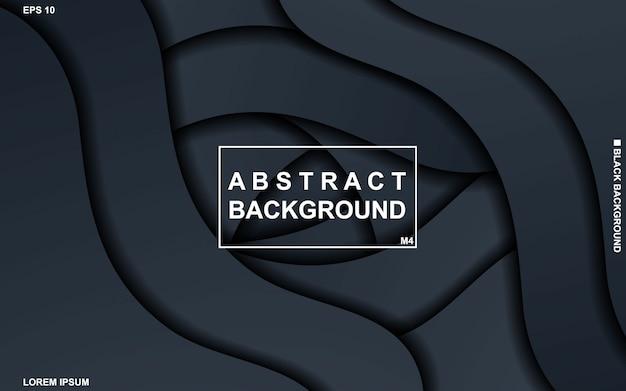 Abstrait sombre avec un motif géométrique noir et bleu minimal moderne.