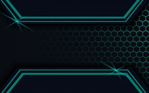 Abstrait sombre avec vecteur ligne hexagone