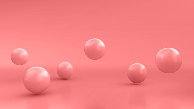 Abstrait avec des sphères 3d dynamiques. bulles roses. illustration vectorielle de boules brillantes. conception de bannière à la mode moderne