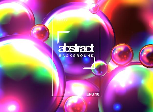 Abstrait avec des sphères 3d dynamiques