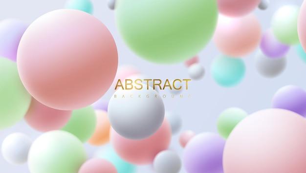 Abstrait avec des sphères 3d multicolores