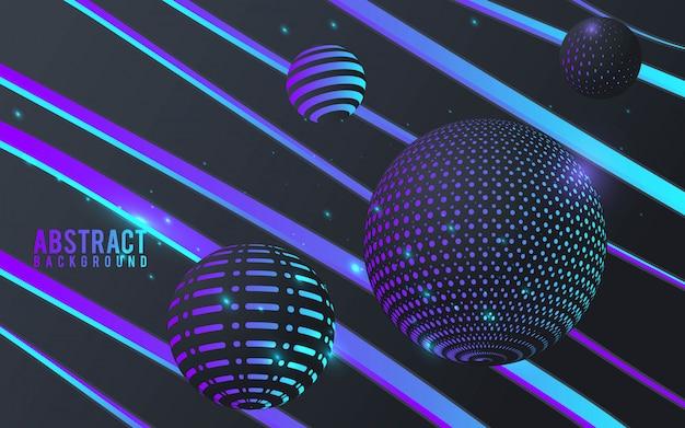 Abstrait avec des sphères 3d