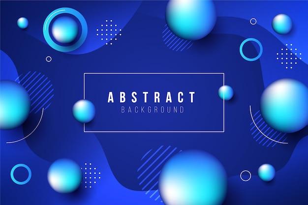 Abstrait avec des sphères bleues