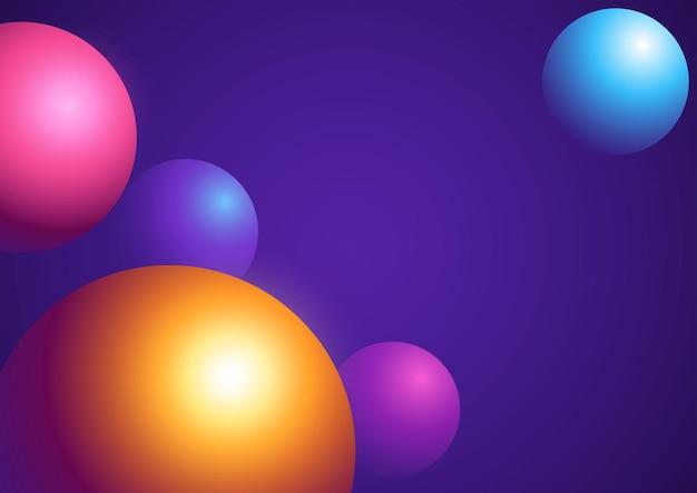 Abstrait de sphères colorées dans le vecteur eps 10