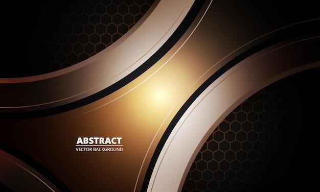 Abstrait sport marron avec fibre de carbone hexagonale