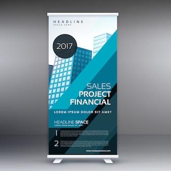Abstrait standee bleu rouler concept de conception de bannière pour le marketing de l'entreprise et la présentation