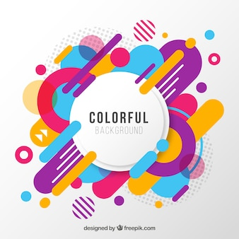Abstrait avec un style coloré