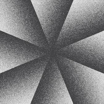 Abstrait de style rétro dotwork