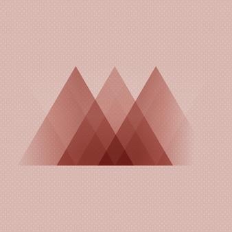 Abstrait de style scandinave low poly design