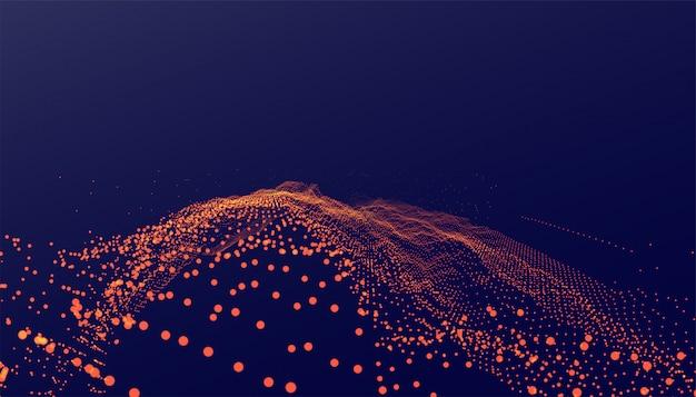 Abstrait de style de technologie de particules numériques
