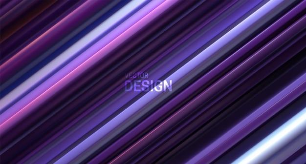 Abstrait Avec Surface En Couches Violette Vecteur Premium