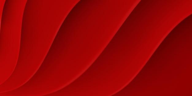 Abstrait avec surface ondulée en couleurs rouges
