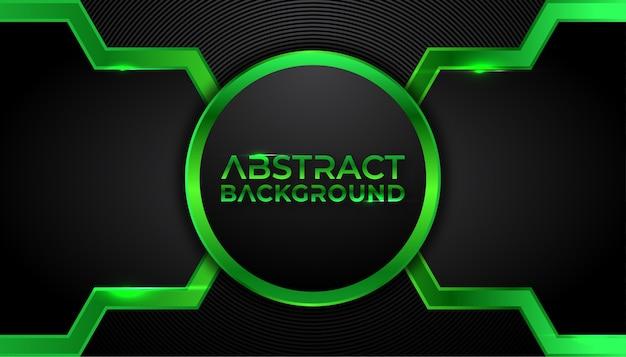 Abstrait tech vert sur fond sombre