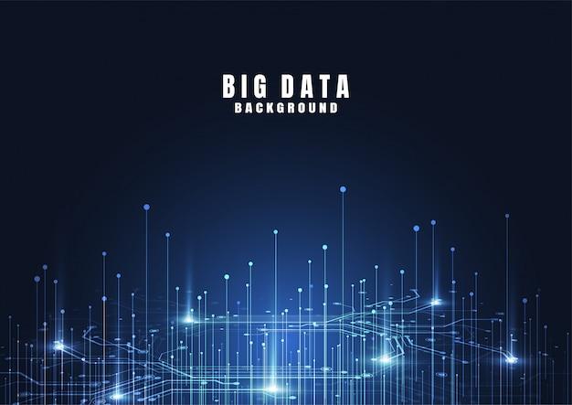Abstrait de technologie avec big data. connexion internet