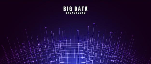 Abstrait de technologie avec big data