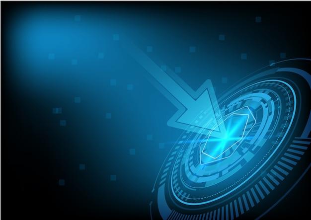 Abstrait de technologie de cercle futuriste