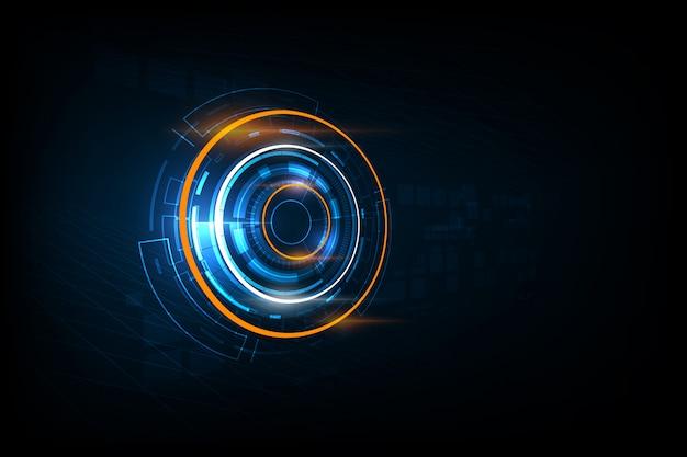 Abstrait de technologie de circuit électronique futuriste abstrait, illustration vectorielle